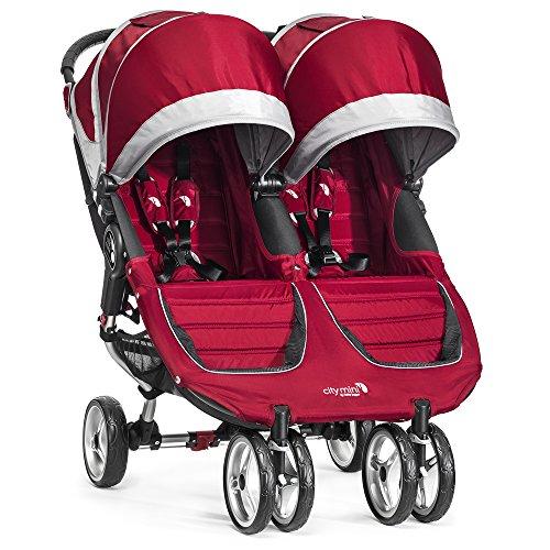 Baby Jogger City Mini Double Stroller, Crimson/Gray - 1