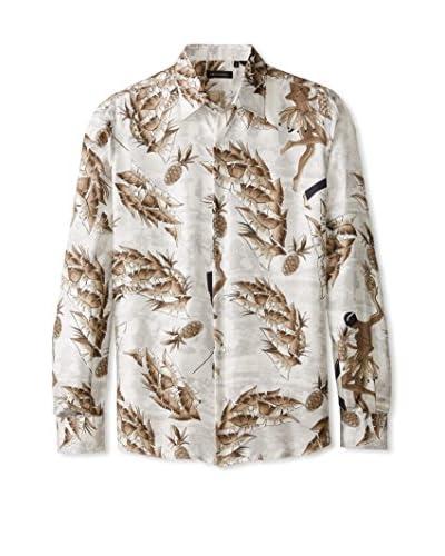 Valentino Men's Allover Print Dress Shirt