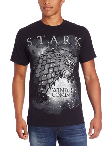 Hbo'S Game Of Thrones Men'S Winter Is Coming, Black, X-Large