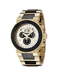 Invicta Men's 6777 Reserve Collection Chronograph 18k Gold-Plated and Black Polyurethane Watch