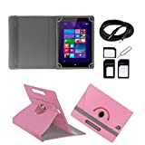 ECellStreet Tablet Flip Cover Universal Diary Folio Case With Stand And 360° Degree Rotation For Bsnl Penta WS802C...