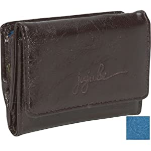Ju-Ju-Be Be Thrifty Earth Tri-fold Wallet, Brown/Teal