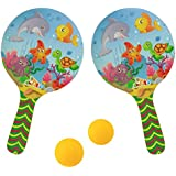 Taringo24h Aqua Print Designer Table Tennis Racket With 2 Balls