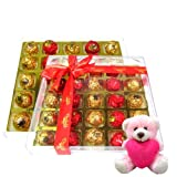 Valentine Chocholik Premium Gifts - Extreme Collection Chocolate Box With Teddy