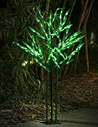 Lightshare™ NEW 4Ft 144LED Bamboo Tree Light,Green for Home Garden…