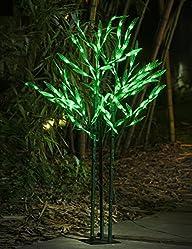 Lightshare™ NEW 4Ft 144LED Bamboo Tree Light,Green for Home Garden…
