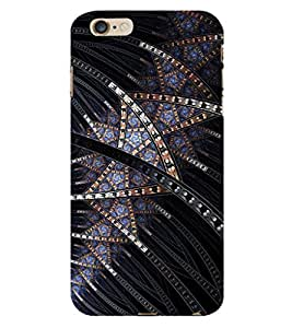 ifasho Designer Phone Back Case Cover Apple iPhone 6s Plus :: Apple iPhone 6s+ ( Black Leather Look Classy Formal Porsch )