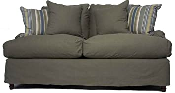 Horizon Loveseat - Slip Cover Set Only - Forest Green