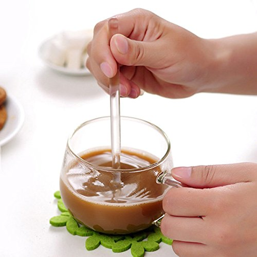 Pink Lizard 3PCS Borosilicate Transparent Glass Coffee Scoop Sugar Spoon Coffee Spoon Stirring Tools