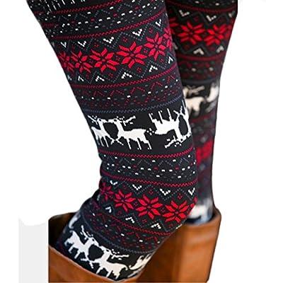 ABC® Pants, Leggings, Womens Skinny Stretchy Leggings Flower Deer Printed Pencil Tight Pants
