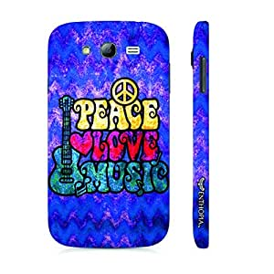Samsung Galaxy Grand 2 Grungy Peace Love Music designer mobile hard shell case by Enthopia