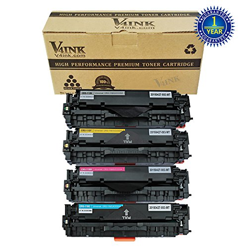 4 Pack V4INK ® Compatible Canon Cartridge 118 Color Laser Toner Set (Black+Cyan+Magenta+Yellow) for the Imageclass MF8580Cdw MF8380Cdw MF8350Cdn series Printer