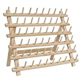 60 Spool / Cone Wood Thread Rack - By Threadart - 3 Sizes Available