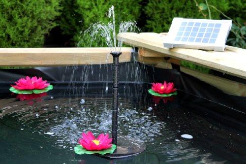 Pannello Solare Per Laghetto : Pk green pompa acqua solare fontana di cm w