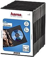 Hama Lot de 25 boîtiers DVD Slim noirs