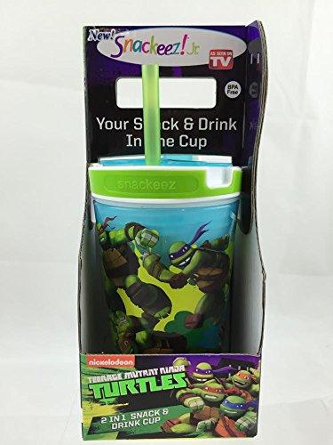 [Snackeez Jr. in Blue ~ Teenage Mutant Ninja Turtles (2 in 1 Drink and Snack in One Cup)] (Ninja Turtle Blue)