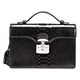 Gucci Lady Lock Black Python Leather Top Handle Bag 331823 LCA0F