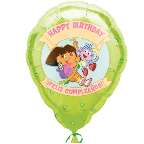 "18"" Dora & Boots Birthday Personalized Jr. Shape"