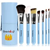 Kissemoji Professional 7 Pcs Synthetic Kabuki Makeup Brush Set Cosmetics Foundation Blending Blush Eyeliner Face...