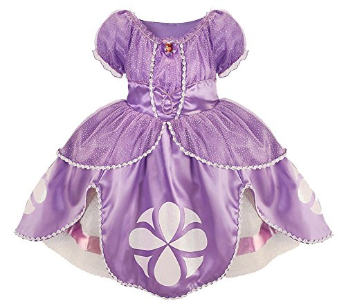 Disney Store Sofia the First Dress Gown Costume Amulet & Tiara Set - Size 5/6 - New