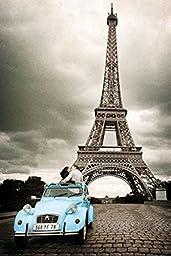 Cartoon world Eiffel Tower Car Poster 20x30\'