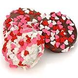 Chocolate Covered Oreo Cookies - Heart Sprinkles - Set of 12