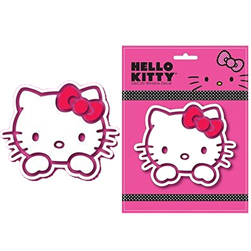 Hello Kitty Electric Car Motor: Hello Kitty Face Head With Red Bow Sanrio Auto Car Truck