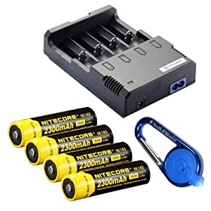 Nitecore Sysmax Intellicharge i4 version 2, Four Bays universal battery charger, Four... by Nitecore