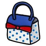 3D Jump Style 2D Drawing From Cartoon Paper Bag Comic Bow Handbags