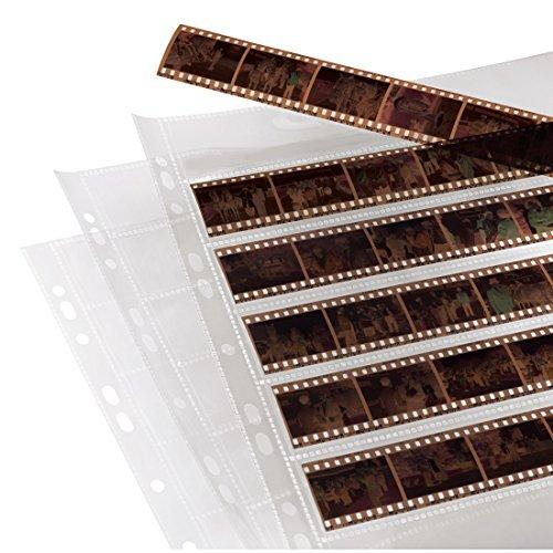 Hama Pochettes perforées archivage négatifs 7 bandes de 6 négatifs par pochette Lot de 100