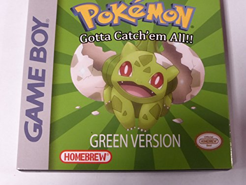 Pokemon Green Version - Game Boy - Nintendo - Fan Translation (Gameboy Pokemon Console compare prices)