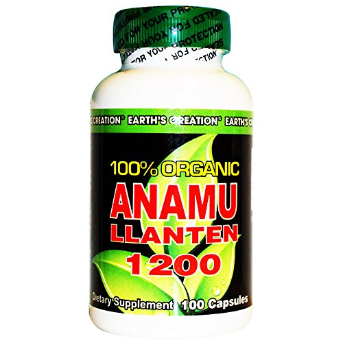 Earth'S Creation Anamu Llanten 1200 - 100% Organically Grown (1200Mg Per Serving) - 100 Capsules