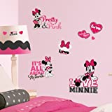MINNIE MOUSE Loves Pink wall stickers 28 Disney decals Heart Bows Mickey Pretty