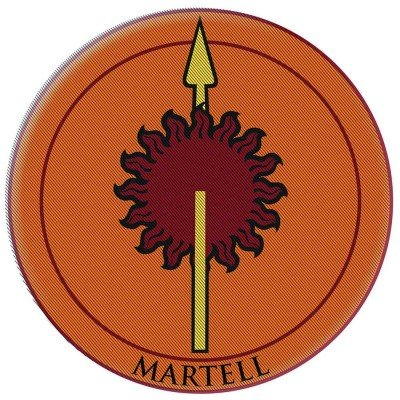 Game Of Thrones Embroidered Patch Martell