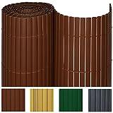 Sol-Royal-PVC-Sichtschutz-Zaun-100x700cm-in-Braun-Kunststoff-Matten-fr-Garten-oder-Balkon-alle-Gren