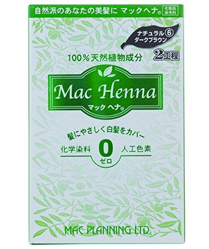 マックヘナ ナチュラルダークブラウン60g+60g ヘナ白髪染め 100%天然