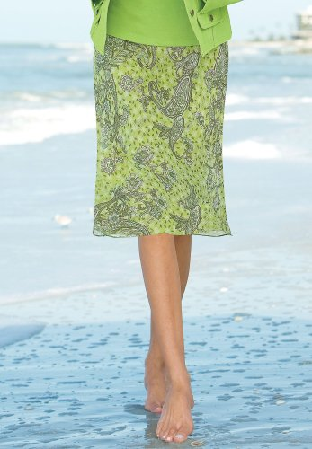 Printed Silk Skirt - Buy Printed Silk Skirt - Purchase Printed Silk Skirt (Chadwicks, Chadwicks Skirts, Chadwicks Womens Skirts, Apparel, Departments, Women, Skirts, Womens Skirts)