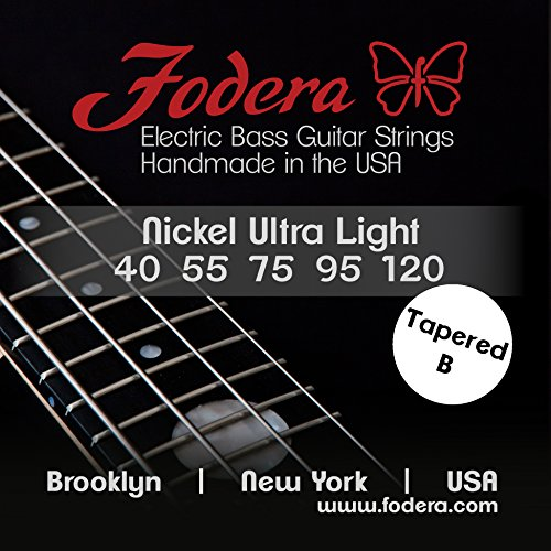 Fodera Electric Bass Guitar Strings, Roundwound 5-String Nickel - 40120 Ul Tb
