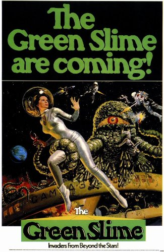 "Green Slime 27,94 43,18 cm x (11""), 28 x 17 x 44 cm, motivo: Film Poster"