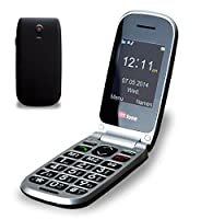 TTfone Pluto Big Button Clamshell Flip Mobile Phone - Easy to Use Simple Unlocked Sim Free - Black by TTfone