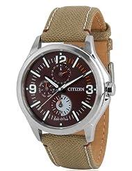 Citizen Eco-Drive Analog Black Dial Men's Watch AP4000-07W