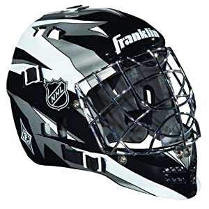 Franklin Sports NHL Street Hockey SX Comp GFM 100 Goalie Face Mask (Black/Silver/White)