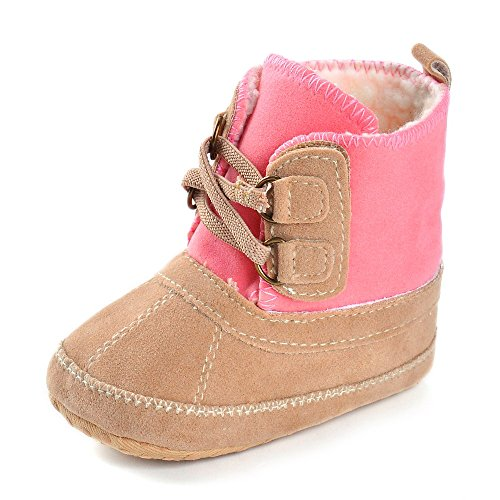 Baby Girls' Plush Boots Pink US 3
