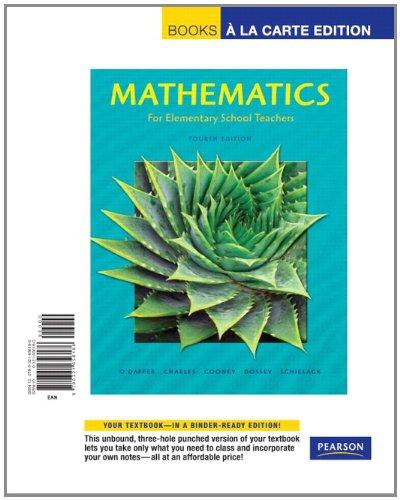 Mathematics for Elementary School Teachers, Books a la...
