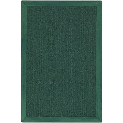 2' x 3' Deep Aspirations Hunter Green Hand Loomed Area Throw Rug