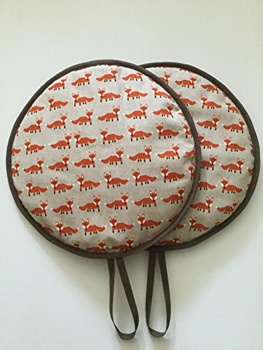 Pair of Vintage Fabulous Fox Range Cooker Hob Lid Covers Hob Top Pads