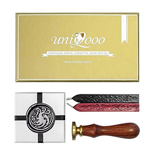 uniqooo-arts-crafts-the-ferocious-dragon-wax-seal-stamp-kit-gift-idea