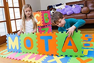 MOTA Alphabet ABC Floor Play Mat for Ages 2 Foam Puzzle Play Mat