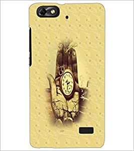 PrintDhaba Antique Watch D-4693 Back Case Cover for HUAWEI HONOR 4C (Multi-Coloured)