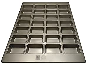 Focus Foodservice Commercial Bakeware 28 Count 3-7/8 by 2-1/2-Inch Mini-Loaf Pan
